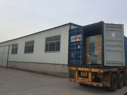 Corrugated production line shipment